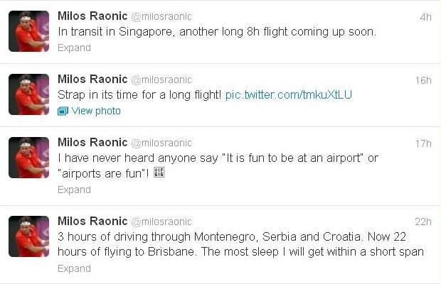 Raonic Tweets