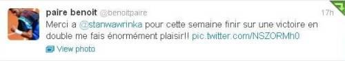 Benoit Final Tweet