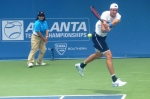 Isner in action in Atlanta