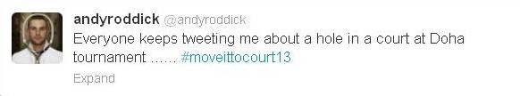 Roddick Tweet