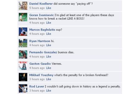 Facebook chat: Tennis players react to Ernests Gulbis' game